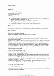 Typical Fmcg Sales Cv Sales Resumes Examples New Inside Sales