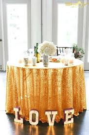 sequin table overlay round rose gold cloth for wedding banquet lace