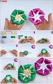 How To Make A Paper Ribbon Flower How To Make An Easy Ribbon Flower Usefuldiy Com