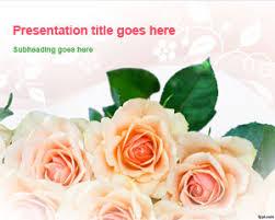 history of floral design powerpoint flowers powerpoint templates
