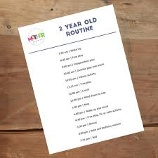 Daily Routine Chart For 2 Year Old Workout Plans For 12 Year Olds Workout Routines