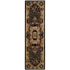 safavieh classic black gold 2 ft x 12 ft runner rug