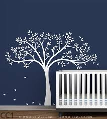 kids white tree wall decal by