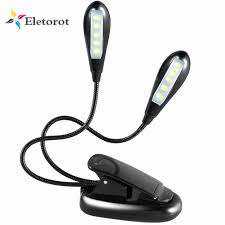 Battery Powered Clip On Light Reading Light Clip On Book Lamp Battery Operated Desk Torch