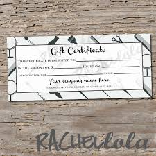 Create Your Own Voucher Template Delectable Custom Hair Salon Grey Printable Gift Certificate Template Etsy