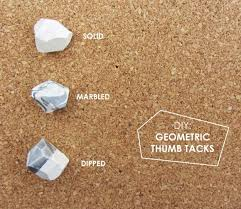 cool stuff for your office. Fun DIY Ideas For Your Desk - Geometric Thumb Tacks Cubicles, Teens Cool Stuff Office O