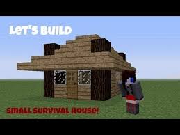 Small Picture Minecraft Lets Build1 Small Survival House Tutorial