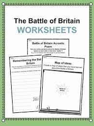 Battle of Britain Facts, Worksheets & Historical Information For Kids