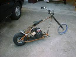 my custom mini chopper pocket bike