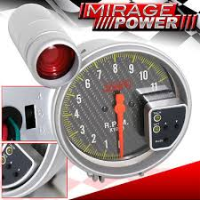 5 all chevy black face tachometer 11k rpm gauge jdm red shift 11k rpm 5 jdm tachometer carbon fiber auto meter gauge red shift light