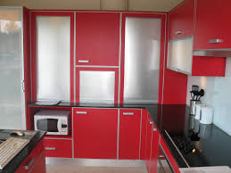 Red Kitchen Cupboard Doors Red Cabinetry With Grey Countertop Also Kitchen Range Hoods Also