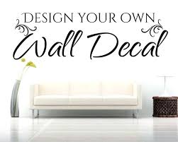 gallery for unforgettable make your own wall decal
