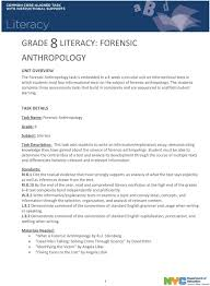 essay on literacy can essay have i literacy narrative grade  grade literacy forensic anthropology pdf task details task forensic anthropology grade 8 subject literacy task description