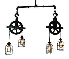 pulley lighting. foyer ceiling lighting industrial pulley light bar island rustic home hanging edison bulb
