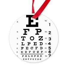 Amazon Com Cafepress Eye Chart Round Christmas Ornament