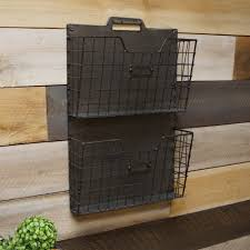 office hanging organizer. Industrial Rustic Double Hanging Rack File Holder Organizer Home Office Décor D