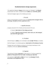 It covers all sorts of expenses and places responsibility upon the designer to get one's job done within the agreed period. Interior Design Contract Agreement Free Printable Documents Contract Interior Design Interior Design Template Interior Design Business Plan