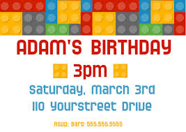 Boys Birthday Party Invitations Templates Boys Lego Birthday Party Invitation Template Postermywall