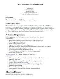 Technology Sales Resume Salesperson Resume Responsibilities Sales Person Orlandomoving Co