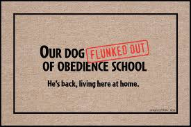 My Dog Flunked Obedience School, a Funny Doormat | For the Home ...