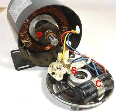 reversing single phase induction motors this starter winding is in series a capacitor c and a centrifugal switch s in this motor the starter capacitor is mounted inside the main
