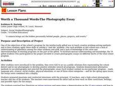 worth a thousand words the photography essay th th grade  worth a thousand words the photography essay lesson plan