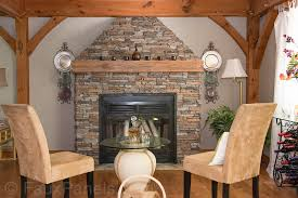 faux stone fireplace made with norwich stacked stone panels in motley gray