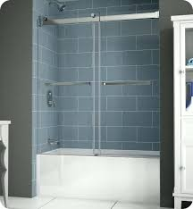 fleurco npt60 gemini plus frameless bypass sliding tub doors frameless tub doors frameless bathtub doors bronze
