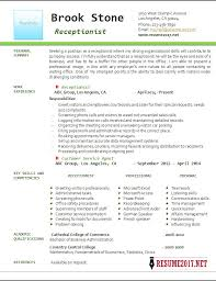Resume Examples For Receptionist Receptionist Resume Example 100 41
