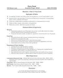 Sample Grill Cook Resume Sample Grill Cook Resume Prep Cover Letter Tips Objective Maker App