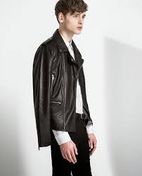 zara jackets 2016 for men faux leather biker jacket