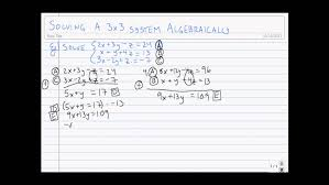 mechanical electrical um size solving 3x3 systems algebraically you how to wire car speakers to