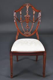 Prince Of Wales Mahogany Carved Shield Back Dining Room Chairs - Shield back dining room chairs