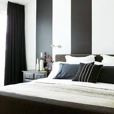 black bedroom. Black And White Striped Bedroom With Bed | PHOTO GALLERY Livingetc