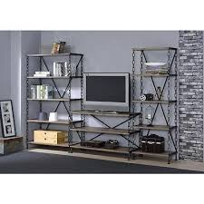 Industrial TV Stand Entertainment Center Media Console Table Chain  Design Rustic Rustic Industrial Tv Stand95