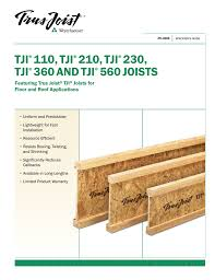 Tji 560 Span Chart Specifier S Guide