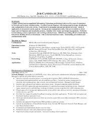system administrator resume example  vinodomia