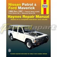 Haynes Nissan Patrol Y60 GQ Repair Manual Petrol & Diesel