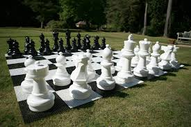garden chess set. Garden Chess Set
