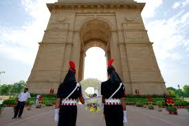 u s department of defense photo essay n military police hold a wreath for a ceremony at gate in new delhi