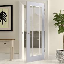 lpd doors lincoln solid glass wood slab