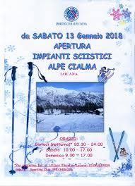 Apertura Impianti Sciistici Alpe Cialma - Comune di Locana