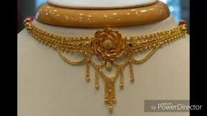 Gold Cheek Necklace Design Latest Light Weight Bengali Traditional Gold Choker Necklace