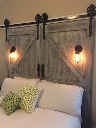 diy barn door headboard clear lacquer iron wood bed brown barn wood headboard ideas