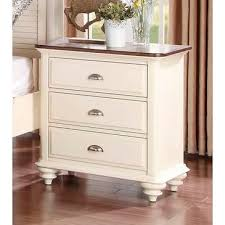 antique white nightstand. Homelegance Floresville Night Stand In Antique White / Dark Cherry Top - 1821-4 From Nightstand
