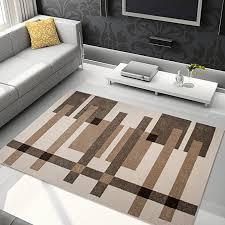 tapiso area rugs for living room bedroom dark light cream beige multicolour square sticks modern