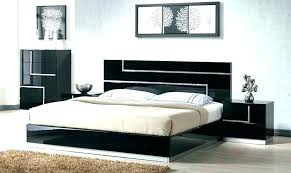 White Lacquer Bedroom Sets Furniture Lacquered Bed Modern Platform ...