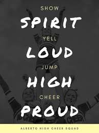 White Text Monochrome Cheerleading Poster Templates By Canva
