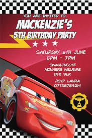 Lightning Mcqueen Birthday Party Personalised Cars Lightning Mcqueen Birthday Party Invites Envelopes Cars3 Ebay