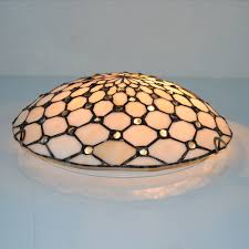 12 inch tiffany flush mount beige stained glass tiffany two light flush mount ceiling light